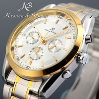 Classic KS 6 Hands Date Day 24 Hours Display Silver Stainless Full Steel Business Dress Automatic Men's Mechanical Watch/ KS060
