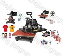 7 IN 1 T shirt/Mug/Cap/Plate/Mouse Pad/Iphone Case Printer ,Combo Heat Press Machine,Sublimation Machine& Heat Transfer Machine
