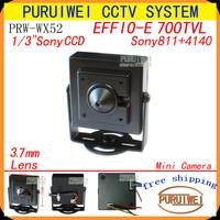 "Genuine 700TVL Effio-E 1/3""Sony 960H Housing Material Metal CCTV Security pinhole hidden surveillance mini camera,Free shipping!"