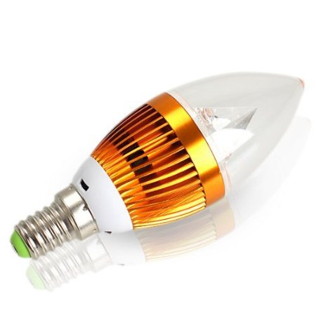 Free shipping E14 9W LED candle bulbs smd high power Silver Crystal  chandelier light bulb lamp