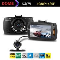 Blackview G30B Dual Lens Car DVR H.264 Front camera Full HD 1280*1080P External Rear Camera 720*480P Dash Cam Allwinner A10 CPU