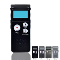 Rechargeable 8GB Voice Activated USB Digital Audio Voice Recorder Dictaphone MP3 Player Black Drop shipping With Retail Box
