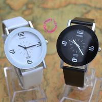 2014 new fashion men women lady girl child unisex gift for dress caual black white brown wristwatch watch hour relogios feminino