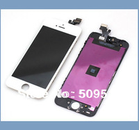 10pcs/lot 100% Original For iPhone 5 5G LCD with Touch Screen Digitizer Assembly black or white color  Free shipping  DHL EMS
