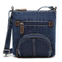 [ TC ] New 2014 super fashion denim bag small packet jeans handbag flounced denim bag packet hot selling women handbag fashion