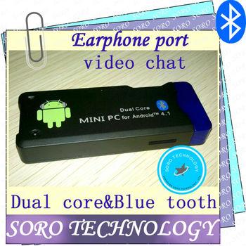 IPTV,set top box,tv stick,mk802iii dual core+Bluetooth+WiFi+HDMI+audio port,mini pc Android 4.1 RK3066 1.6GHz 1G RAM video chat
