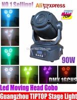 New Arrival 90W Led Moving Head Spot Light DMX 16Channel Led Gobo Moving Head 90W Electronic Focus,3Facet Prism Effect 90V-240V