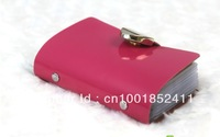 Free Shipping Hot Fashion PU leather Business ID Name Credit Card Purse Wallet Bag Case Pouch