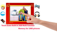 "8"" Digital Photo Frame high-end design multifunctional Touch Screen 2GB built-in memory for 1000 picture  Free Shipping"