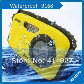 B168 2.7 inch LCD Screen HD waterproof digital camera 10m underwater 12 mega 8x optical zoom