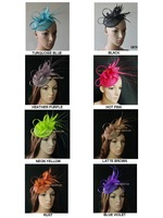 Feather sinamay bridal fascinator&hat for wedding and party .8 colors.Can pick the color.Free shipping.