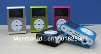Freeshipping Mini Clip MP3 Player with LCD Screen / with FM Radio