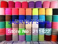 "24rolls 56colors DHL Free shipping 5/8""  Plain FOE Fold Over Elastic 50Yards/roll Foldover elastic DIY headband Hair Accessories"