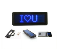 Blue LED name badge sign board/scrolling advertising business card show display 7*29 Dots /order=10pcs free 1 set software
