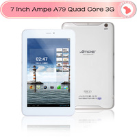 Cheap  7 inch Ampe A79 Dual Core 3G WCDMA Phone Call Tablet PC Android 4.1  Dual Camera GPS Bluetooth 1024x800