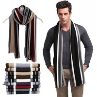 Fashion winter striped cotton scarf mens scarves shawl wrap,casual warm knit cashmere bufandas men business scarf echarpe,WTS