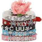 Free shipping 2013 Lefdy New the of collar for the Dogs personalized Name Letters collar of  leather(China (Mainland))