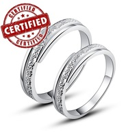 (2 pieces/a pair)  Certified 100% Genuine Sterling silver 925, 18k gold plated, CZ, wedding ring set, 2014 lover's jewelry
