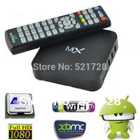 1pc Original MX/MX2 XBMC Midnight Dual Core Android 4.2 1G 8G Dual ARM Cortex A9 WiFi Remote Control Sports XXX Google TV Box