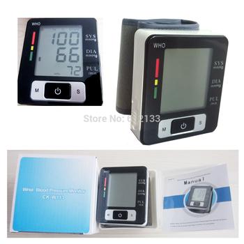 health care Automatic Digital Wrist Blood Pressure and Pulse Monitor Sphygmomanometer Portable Blood Pressure Monitor Free Ship