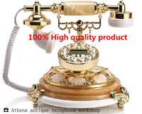 Natural Jade Vintage Telefones Creativity Cord Phone Fashion Decoration Home Art Decoration