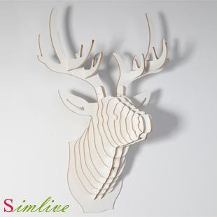 Cardboard Deer Head Diy Promotion-Shop for Promotional Cardboard ...