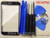 Free Shipping Black Original Outer LCD Touch Screen Lens Top Replacement Glass For Samsung Infuse 4G I997 997+Free Tools