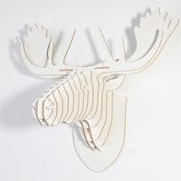 reindeer head ornament,wall decor,wood wall hangings,diy crafts,wooden moose head,mdf objects,animal head wall,christmas decor