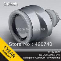 "3GQO 35W 3.0"" inch HID H1 H4 H7 HB3 HB4 9004 9007 bi xenon Projector Lens Kit 4300K 5000K 6000K 8000K CCFL angel eye"