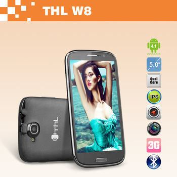 5.0 inch THL W8s Quad Core Smartphone 5.0 inch FHD 1920x1080 2G RAM 32G ROM Android 4.2 Dual Camera 5.0MP+13.0MP
