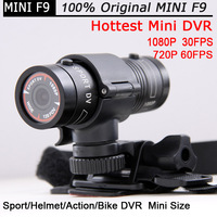 Mini Camera DVR Ambarella Mini F9 Helmet Sport Camera Car DVR 1080P 30FPS Action camera +Bike Mount Helmet Bracket +Car Holder