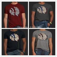 2014 Summer Men's 100% Good Quality Fashion Short Sleeve Cotton T-Shirt  Fashion Brand Design T Shirt  For Men  New N001