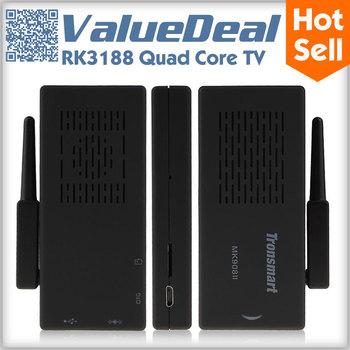 Tronsmart MK908II mk908 ii Android TV Box Quad Core RK3188 2G/8G Antenna HDMI WiFi Google Smart TV Receiver Stick Dongle Mini PC