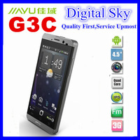 "Free Shipping 3000mAh Jiayu G3S phone MTK6589T Quad core Dual SIM GPS 4.5"" IPS gorilla glass Black Silver Jiayu G3 G3T in stock"