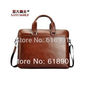 2015 fashion soft leather men bag brand handbags business laptop bag vintage pu leather men briefcase bolsas male shoulder bag