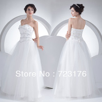 New Arrival Customized Luxurious A-line Sweetheart Floor-length Charmeuse Crystal Detailing Shining Bridal Gowns Wedding Dress