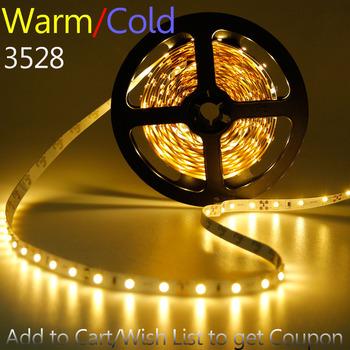SMD 5050 LED Strip 5050 Waterproof Flexible LED Ribbon Light 300LEDS 60leds/m 120 Degree 72W Cool White Warm White LED Light