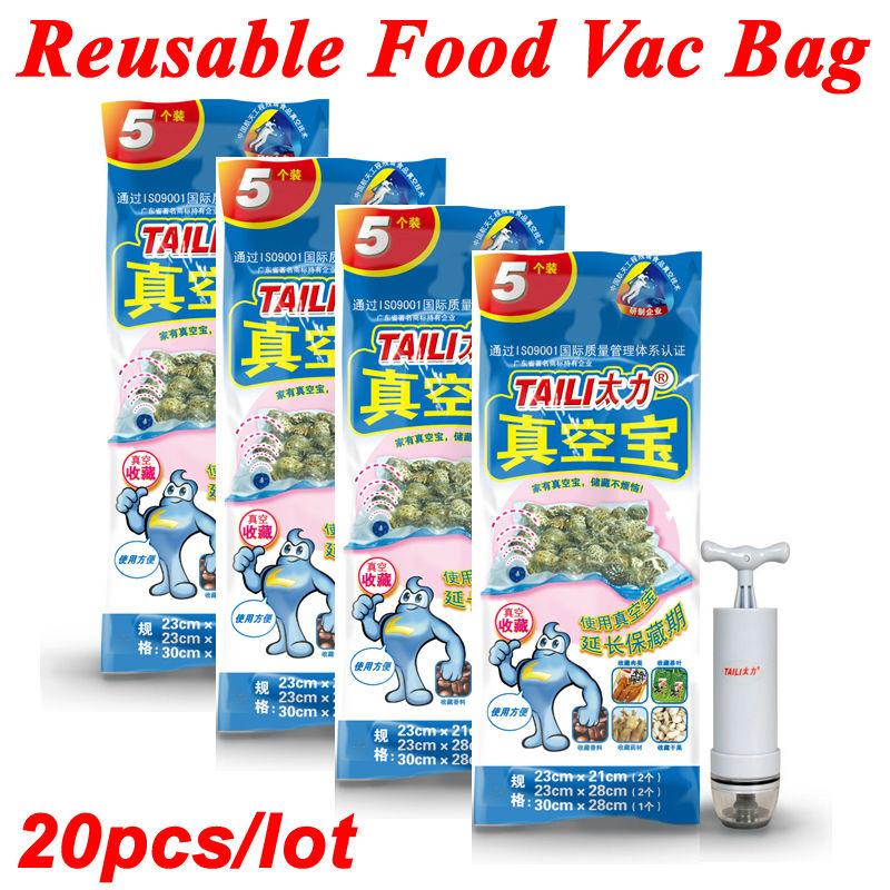 Vacuum Storage Bags for Food with Air Pump Refrigerator Organizer Reusable Food Saver Packages Vacuum