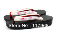 Hot Sale! Women's Black Vamp Cosplay Geta, Classical Japanese Flip Flops for Ladies, Summer Beach Gardan Slippers