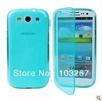 Free shipping Transparent Protective Soft TPU Back Cover Case for Samsung Galaxy Note 2 N7100 (Assorted Colors)