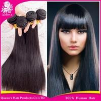 Queen's hair brazilian virgin hair straight 3pcs/lot brazilian virgin hair cheap high quality thick human hair weave straight