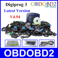 DHL Free Digiprog 3 Odometer Programmer Full Software V4.85 Digiprog III Mileage Correction Tool For Multi-Brand Cars & Language