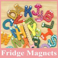Hot Sell 260pcs Wooden Letters Fridge Magnet, Kid's Wood Letters Magnet, Wooden Alphabet Letters for Home Decoration Wholesale