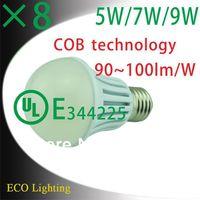 5W 7W 9W MCOB mini Energy Saving A50 LED Lights Bulb Global Bulb Lighting Ultra Bright 90~100lm/W UL listed