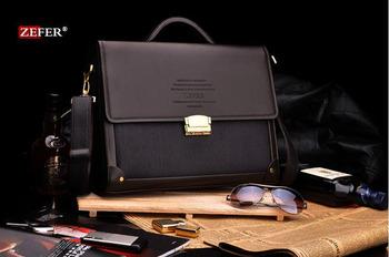 Zefer male business bag briefcase man bag shoulder bag lock laptop bag