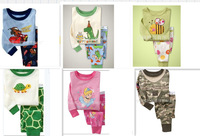 Free Shipping Red Baby Kid's Boys Girls Sleepwear Clothing Sets Pant Size 2T-7T LKM014 Drop shipping