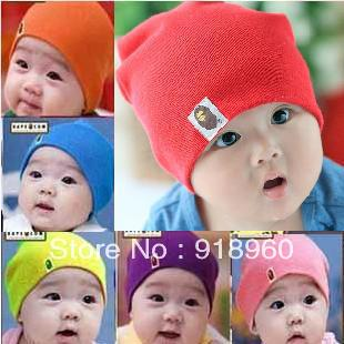 Free shipping baby hat baby cap infant cap 1pcs/lot Beanie Infant Hat Skull Cap Toddler Boys & Girls Hat/ 23 colors Wholesale