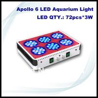 Apollo 6 72*3W LED Aquarium Light fish marine coal reef aquarium led lighting made in China
