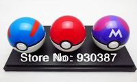 Freeshipping 3pcs ABS Action Anime Figures Pokemon balls/ PokeBall Fairy Ball Super Ball Master Ball kids toys gift