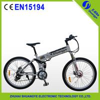 "hot sale 26"" 350W folding electric mountain bike with EN15194 aluminum folding ebike"